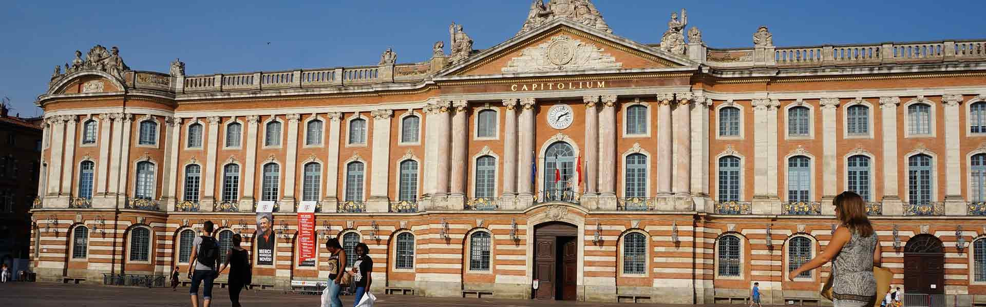 Capital Building in the City of Toulouse in Occitaine, France