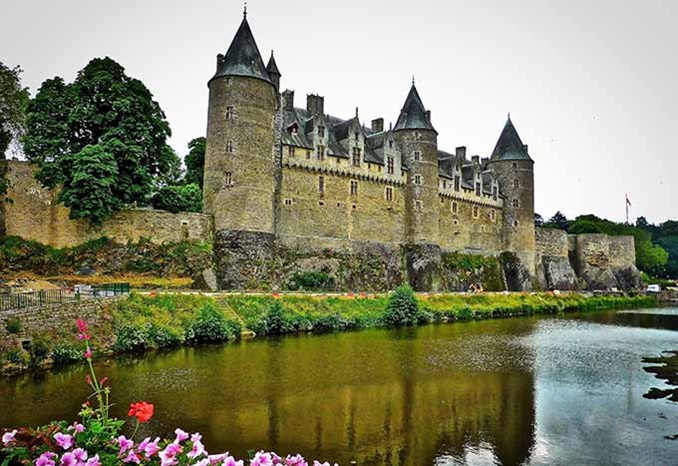 Castle in Bretagne France near the city of Rennes