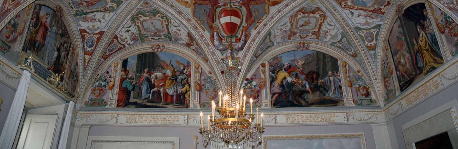 Educandato-Statale-SS-Annunziata-Villa-del-Poggio-Imperiale-Boarding-Florence-Italy-School-ceiling-Banner