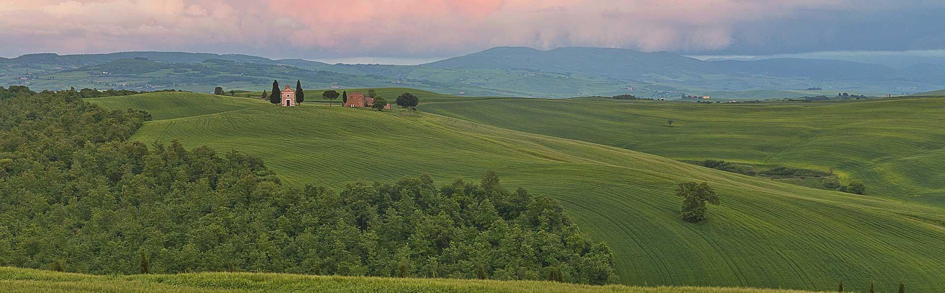 Tuscan Fields near Educandato Statale SS. Annunziata Villa del Poggio Imperiale in Florence, Italy