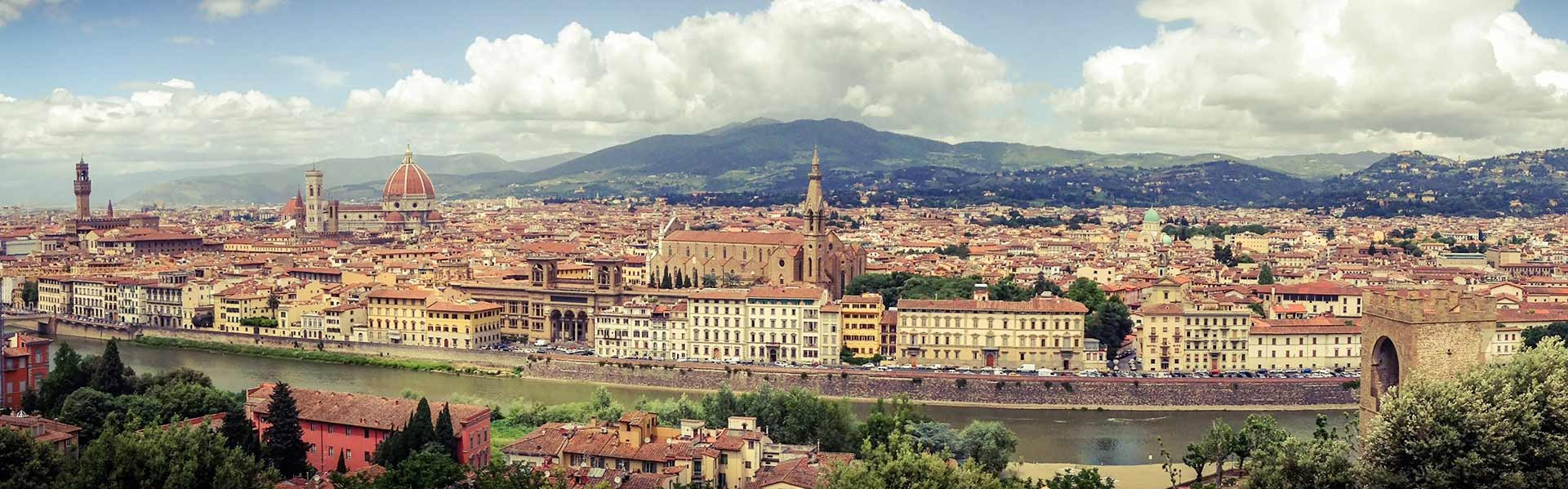 Cityscape near Educandato Statale SS. Annunziata Villa del Poggio Imperiale in Tuscany, Florence, Italy