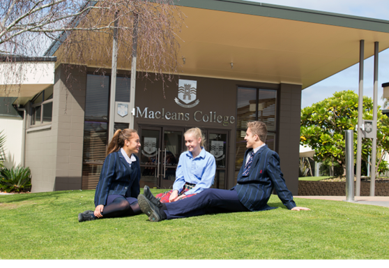 Macleans College Public North Island New Zealand Students on Campus
