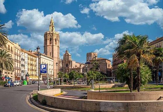 Cityscape in the city of Valencia, Spain