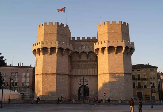 Serranos Towers in the city of Valencia, Spain