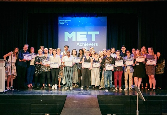 Prize winners at Greater Brighton Metropolitan College