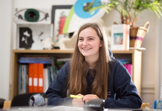 Student studying at King's Ely