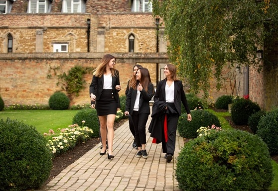 Sixth form students at King's Ely