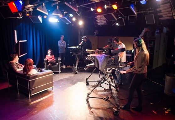 TV recording studio at Exeter College