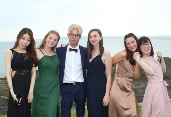 Students at Kingsley School prom
