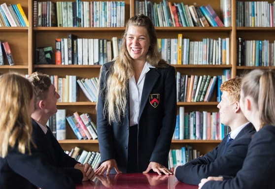 Students in library at Mount Kelly