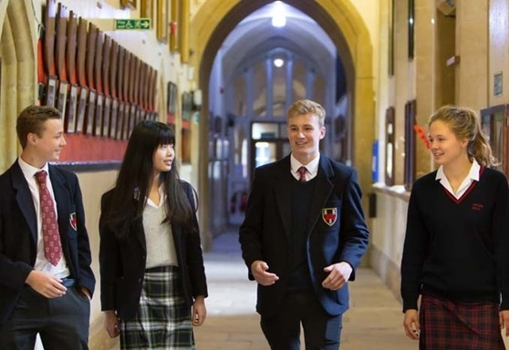 Sixth form students at Mount Kelly