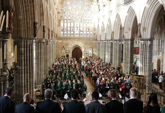 Stover School service at Exeter Cathedral
