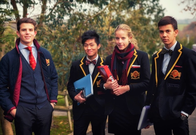 Students outside at Buckswood School