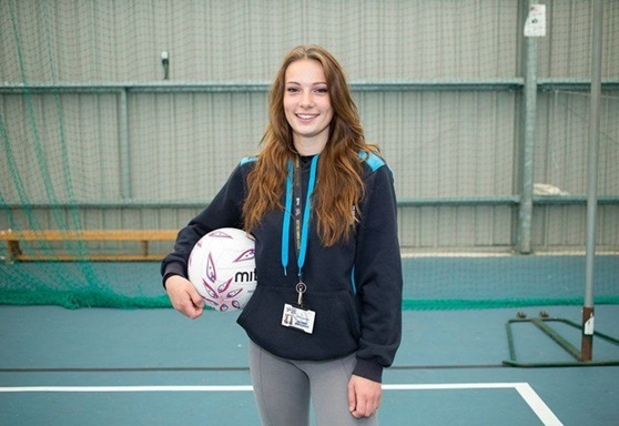 Sports student at East Sussex College