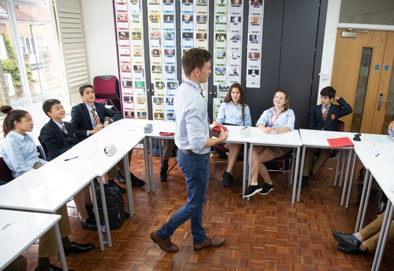 Lower school students with teacher at Kensington Park School