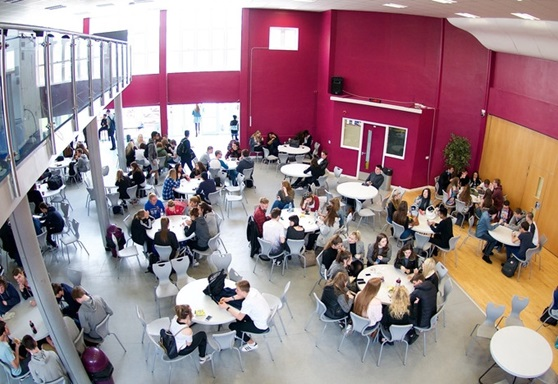 Social area at Portsmouth College
