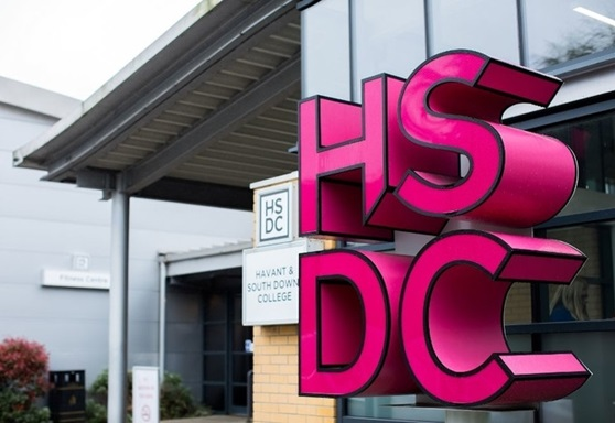 Entrance to Havant South Downs College