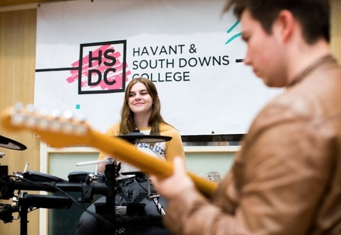 Music students at Havant South Downs College