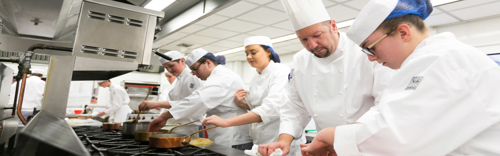 Catering students at South Downs
