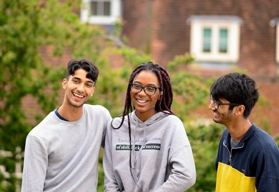 Students outdoors at RIC