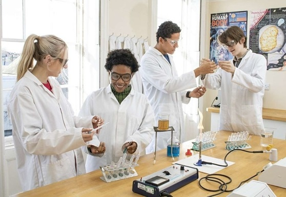 Science students at RIC