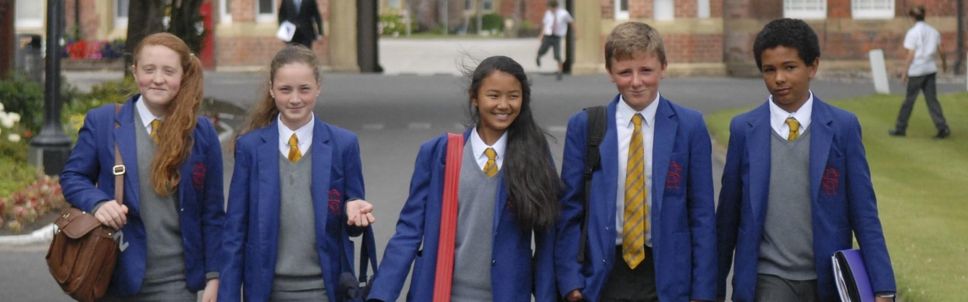 Students at Rossall School