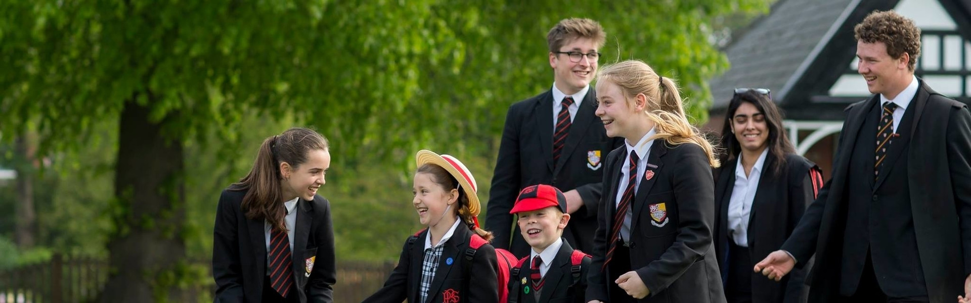Mixed group of students at Birkenhead School