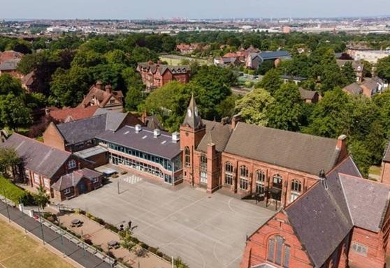 Aerial view of Birkenhead School