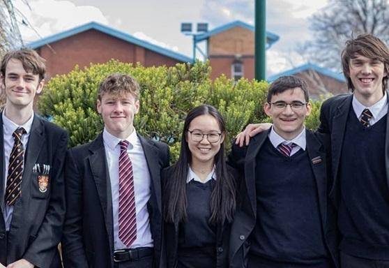 Sixth Form students at Birkenhead School