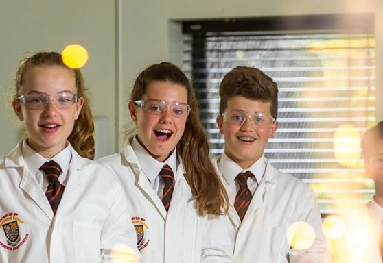 Students in science class at Birkenhead School