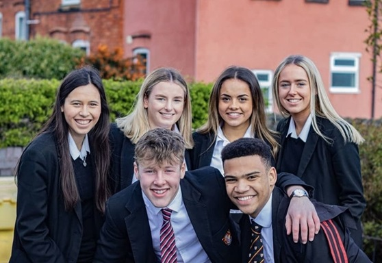 Students on final day at Birkenhead School