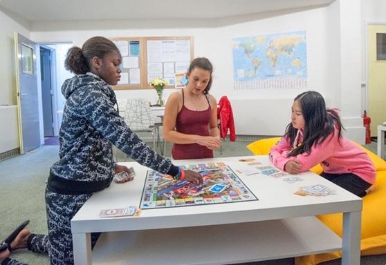 Boarding students in Grange Boarding House for girls at Wellington School