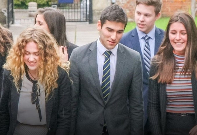 Sixth form students at Wellington School