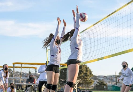 Girls volleyball Archbishop Riordan High School California