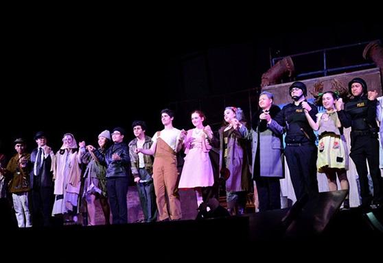 Theatre production at Archbishop Riordan High School California