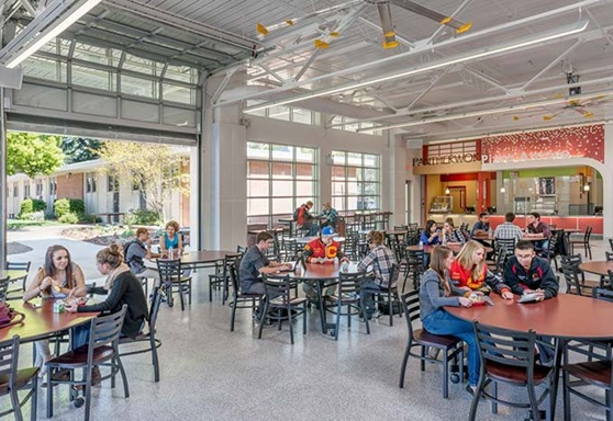 Chico Unified School District School Cafeteria in California USA