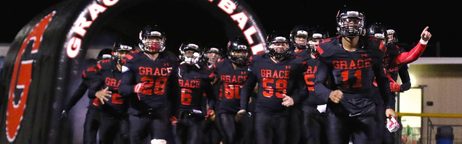 Grace Brethen California USA Football Banner 2019