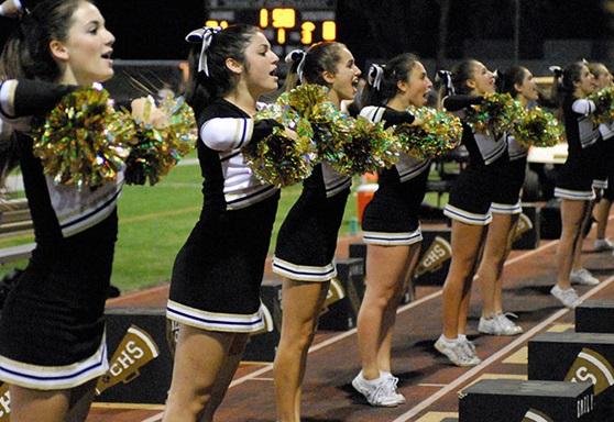 High school cheerleading team