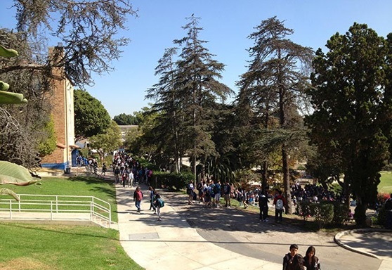 outdoor picture of Los Angeles Unified School District's campus in California