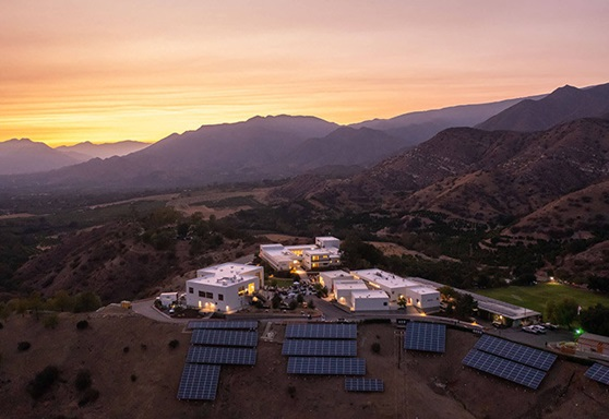 Aerial Picture of Ojai Valley School in California USA