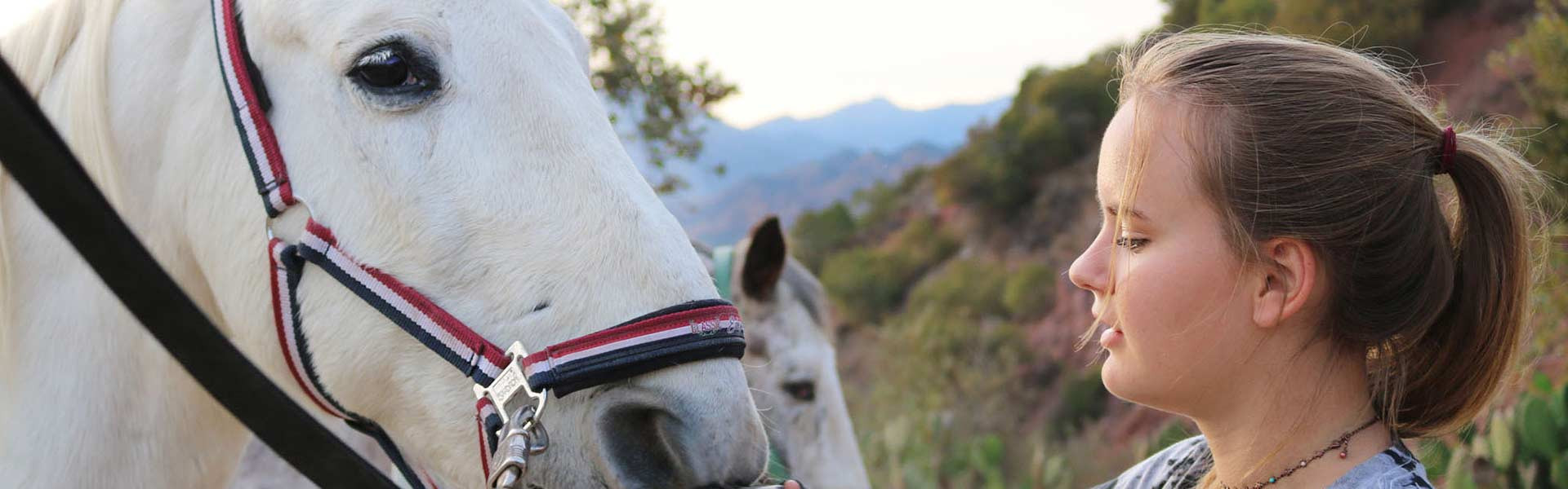 Student with horse at Ojai Valley School in California