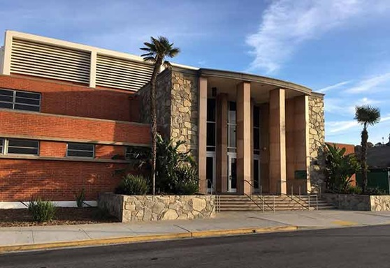 Torrance Unified School District High School Entrance in California USA