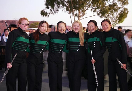 Torrance Unified School District Marching Band in California USA
