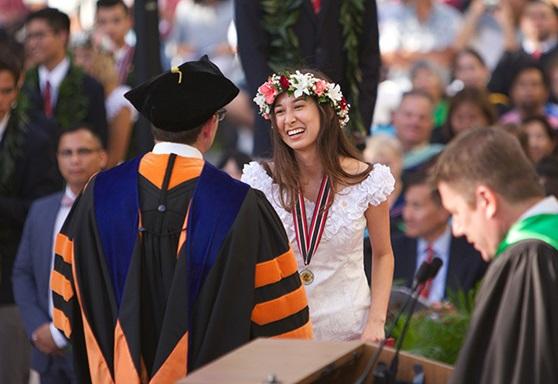 graduation at 'Iolani Boarding School in Hawaii