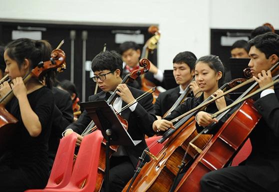 orchestra at 'Iolani Boarding School in Hawaii