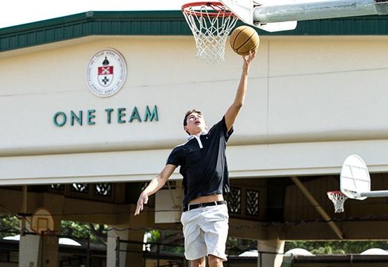 basketball at 'Iolani Boarding School in Hawaii
