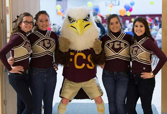 Student Pep Rally at Private Day School Faith Christian School in Indiana, USA