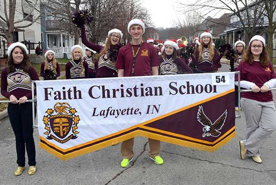Band and Cheer at Private Day School Faith Christian School in Indiana, USA