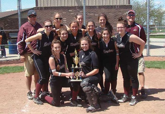 Softball Champions at Private Day School Faith Christian School in Indiana, USA