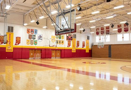 Scecina Memorial High School's students gymnasium